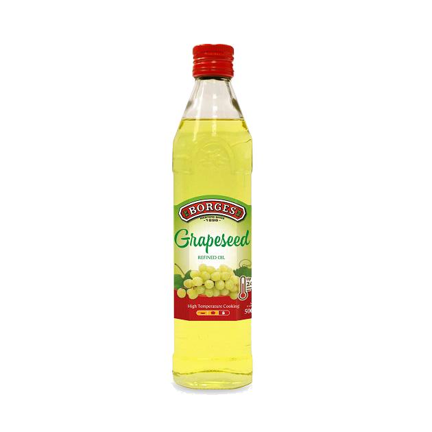 葡萄籽油500ml-100%純葡萄籽油,油性安定耐高溫,是煎煮炒炸、烘焙等各式高溫烹調的最佳選擇,500毫升裝方便攜帶。 1