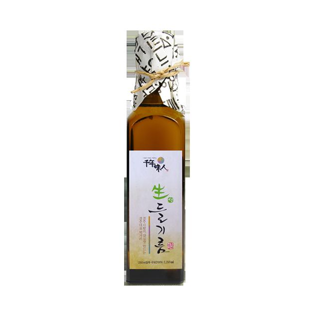 韓國千年味人初榨冷壓紫蘇油 - 100%韓國原裝原瓶進口, 嚴選韓國慶州高營養價值紫蘇籽, omega-3含量最高達65%! 1