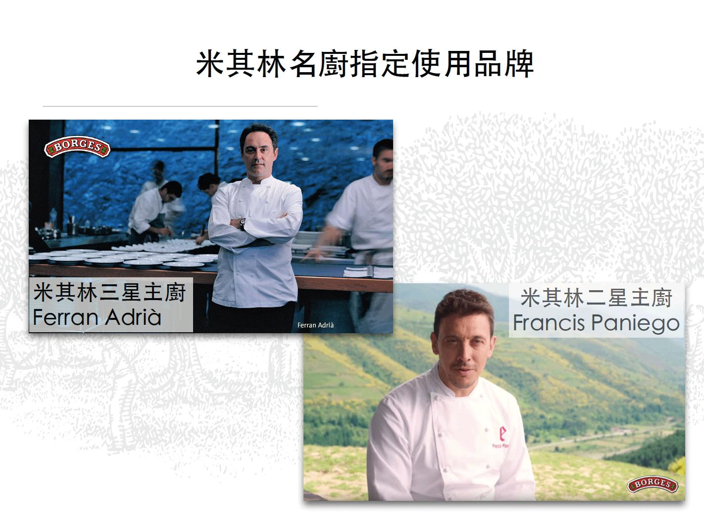 米其林主廚指定使用品牌