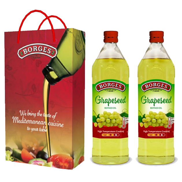 葡萄籽油1L-100%純葡萄籽油,油質穩定耐高溫,是煎煮炒炸、烘焙等各式高溫烹調的最佳選擇。 3