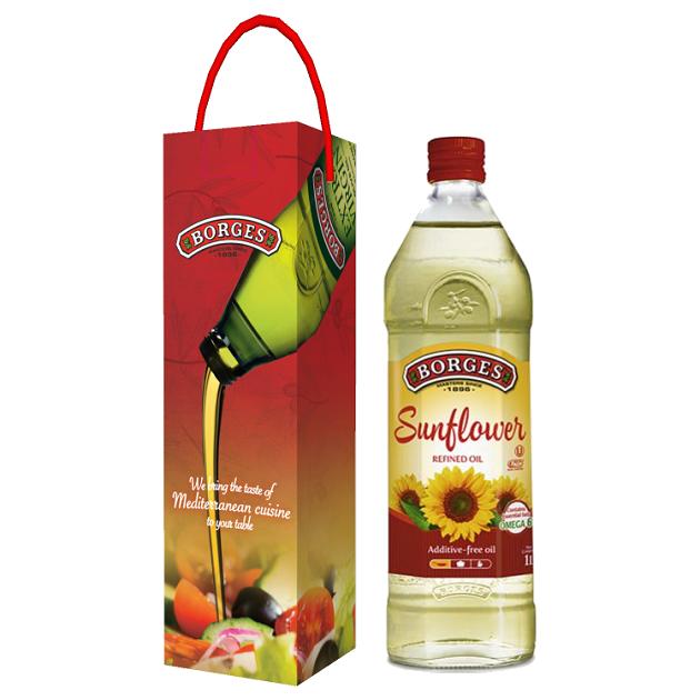 葵花油1L-100%純葵花油,油質穩定耐高溫,是煎煮炒炸等一般家庭烹調最經濟實惠的選擇。 2