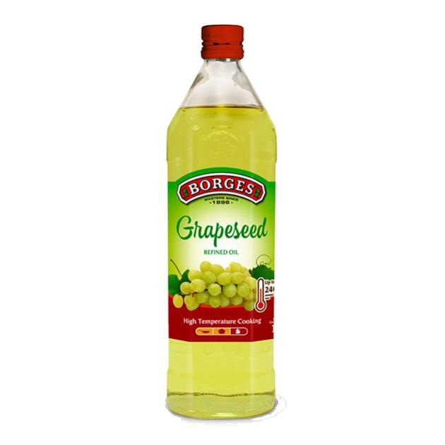 葡萄籽油1L-100%純葡萄籽油,油質穩定耐高溫,是煎煮炒炸、烘焙等各式高溫烹調的最佳選擇。 1