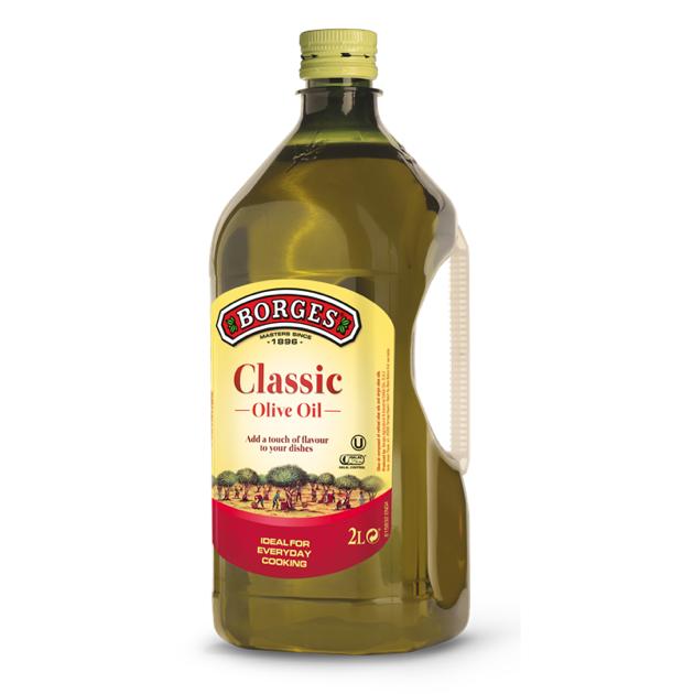 中味橄欖油2L-100%純橄欖油,果香柔和適中,適合涼拌、煎煮炒炸等各種烹調方式,2公升裝經濟實惠。 1