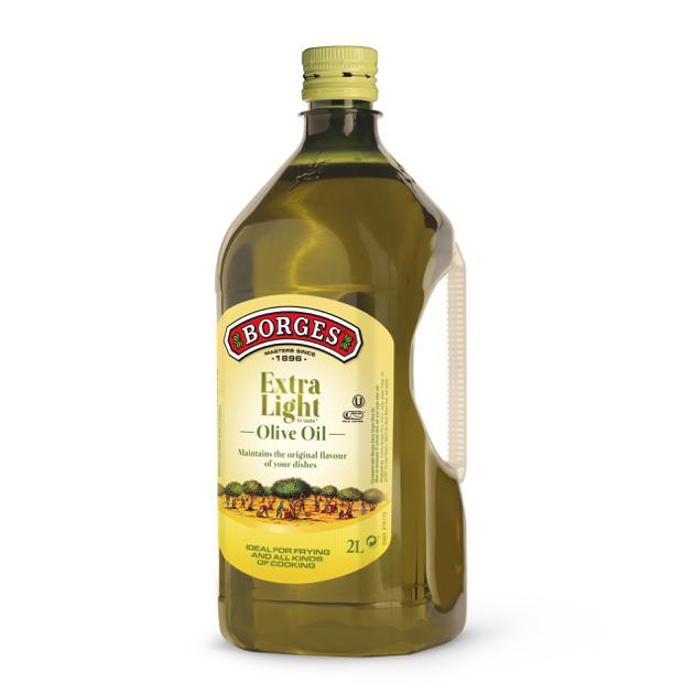 淡味橄欖油2L-100%純橄欖油,果香清爽淡雅,適合煎煮炒炸等各種烹調方式,油性安定耐高溫,2公升裝經濟實惠。 1