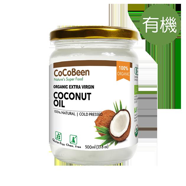 斯里蘭卡CoCoBeen有機初榨冷壓椰子油500ml - 中鏈脂肪酸(MCT)含量高達66.2%, 通過美國、歐盟、日本、台灣農糧署有機認證。 1